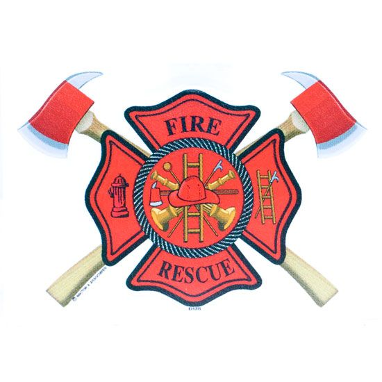 550x550 Fire Dept Cross Axes With A Number 3 Clipart