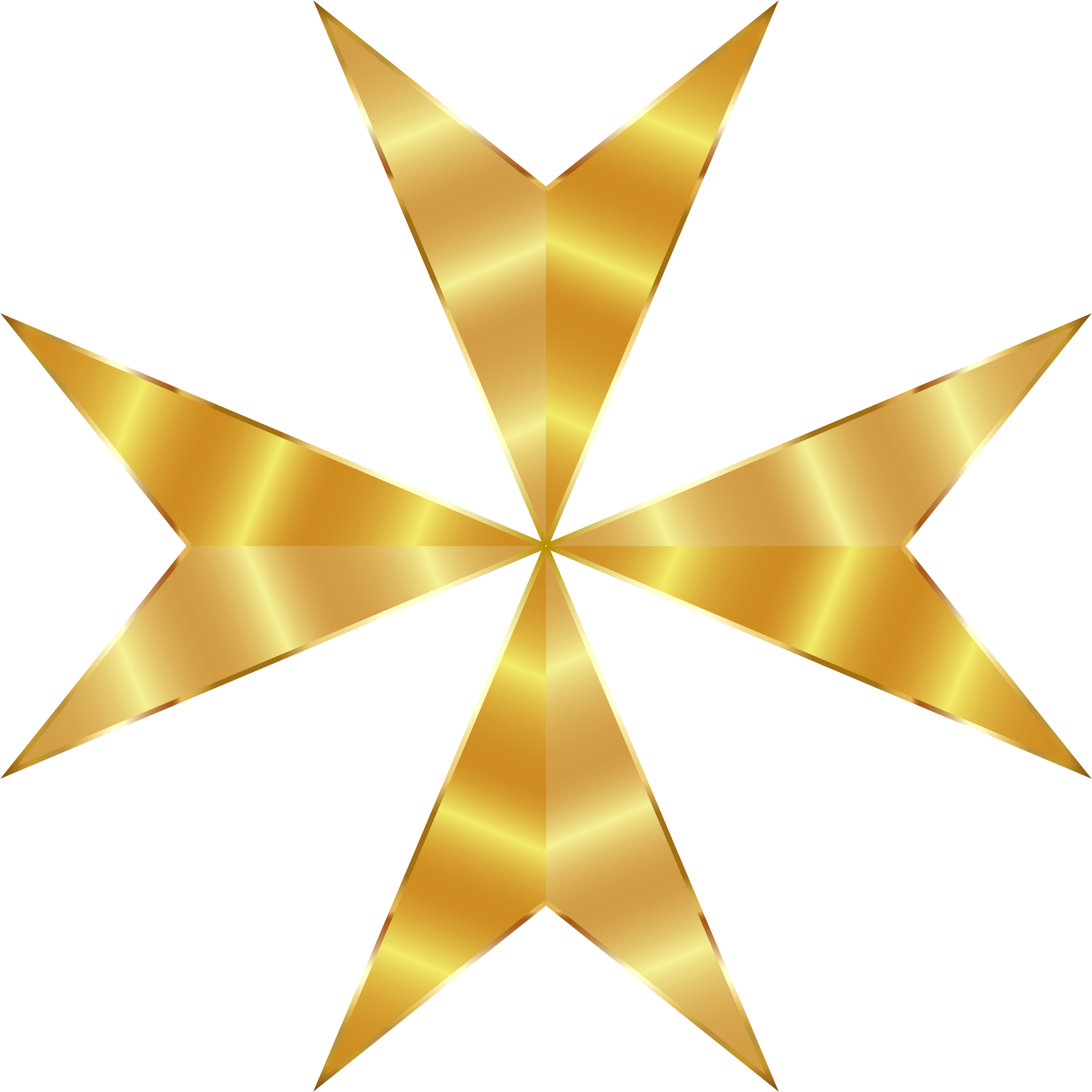 2342x2342 Gold Maltese Cross Mark Ii No Background Icons Png