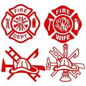 300x300 Maltese Cross Firefighter Badge Of Honor Cuttable Design Cut File
