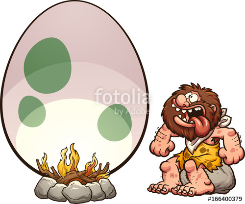 500x416 Caveman Riding A Mammoth. Vector Clip Art Illustration With Simple