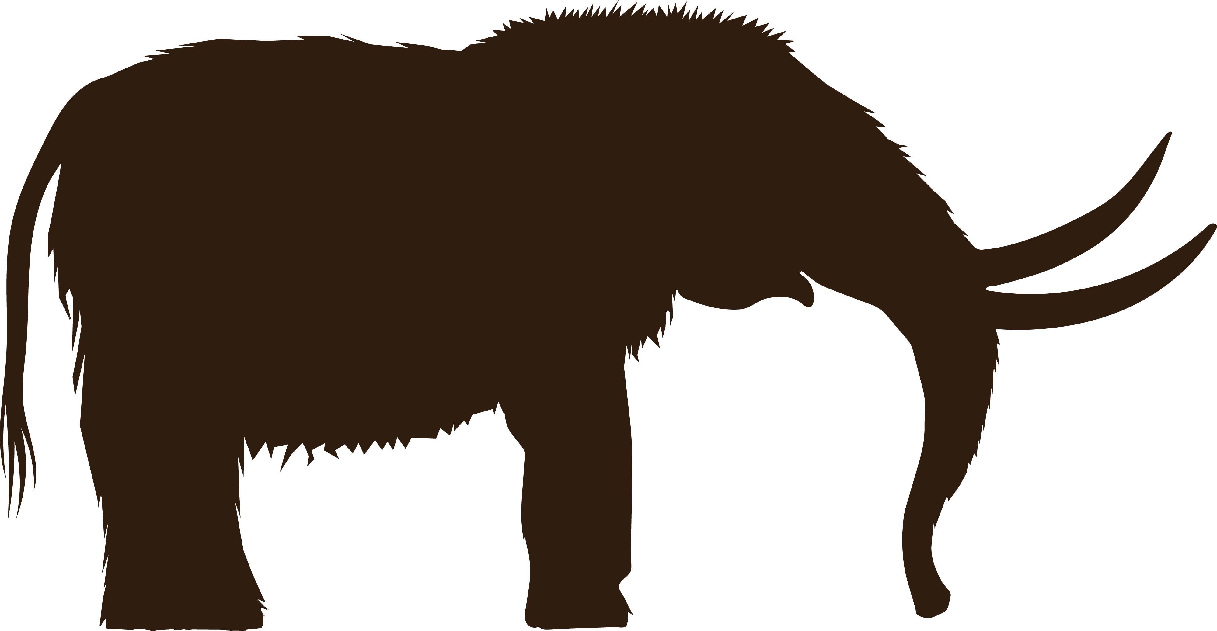 4000x2075 Free Clipart Of A Mammoth Silhouette