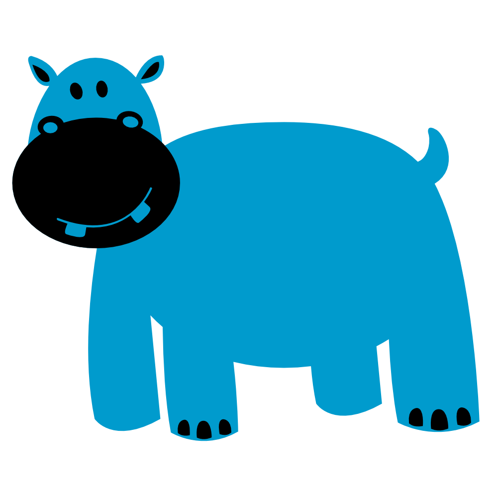 999x999 Hippo Face Cliparts