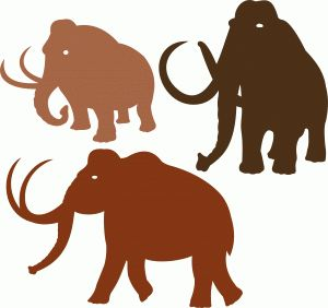 300x282 21 Best Mammoth Images On Logo Inspiration, Silhouette