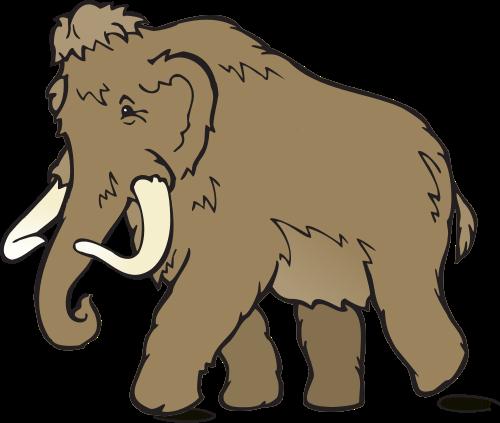 500x423 Mammoth Clipart