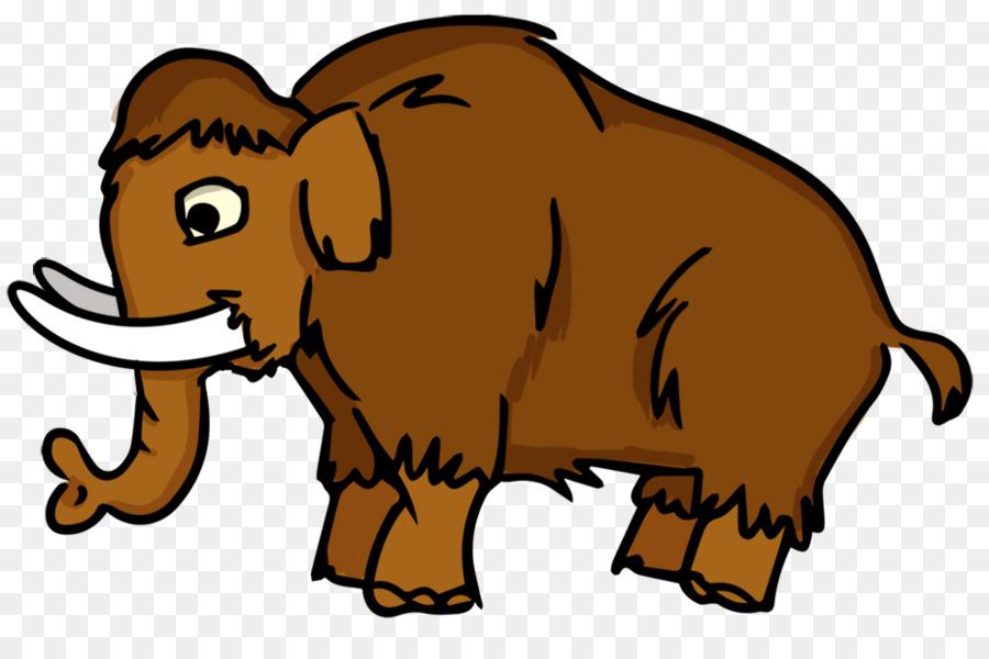900x600 Woolly Mammoth Drawing Cartoon Clip Art
