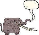 149x135 Cartoon Woolly Mammoth Stock Vectors
