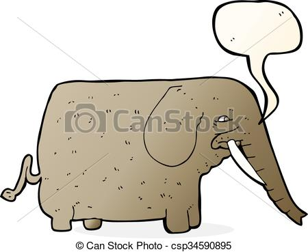 450x369 Cartoon Mammoth With Speech Bubble Eps Vectors