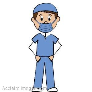 300x300 Clip Art Of A Male Nurse Stick Figure