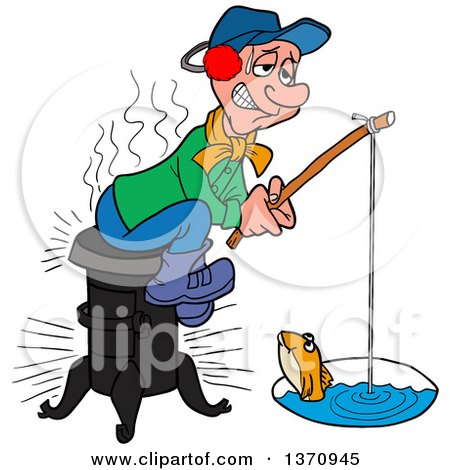 450x470 Clipart Illustration Of A Happy Greek Fisherman In A Boat, Reeling