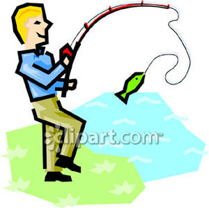 300x298 People Fishing Clipart