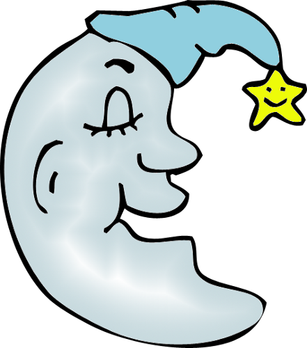 441x500 Man In The Moon Blue Png Clipart By Clipartcotttage