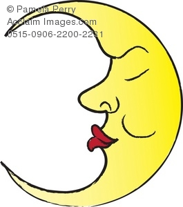 265x300 Man In The Moon Sleeping Royalty Free Clip Art Picture