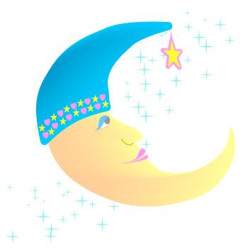 350x356 Sleepy Man In The Moon Clip Art, Nursery Baby Graphic