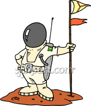 300x350 Astronaut And Moon Clipart