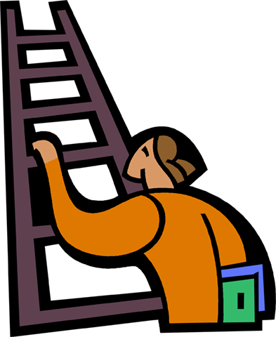 393x480 Collection Of Man Climbing Ladder Clipart High Quality, Free
