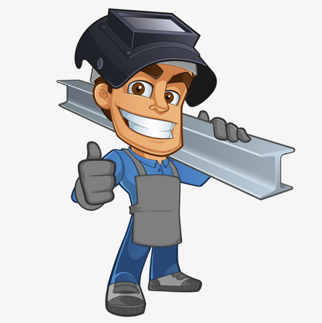 650x651 A Man Carrying Steel, Safety Hat, Carrying Steel, Cartoon Worker
