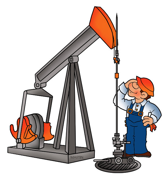 581x615 United States Clip Art By Phillip Martin, Oil Man And Oil Rig