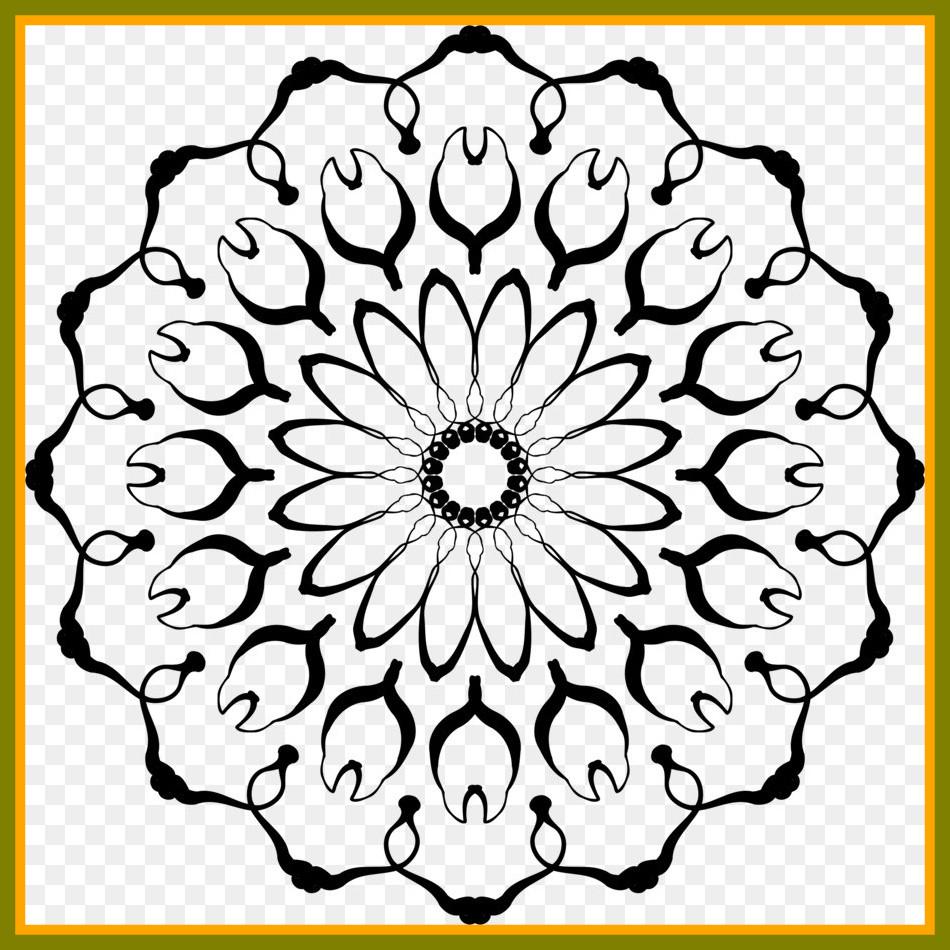 950x950 Flower Drawing Mandala