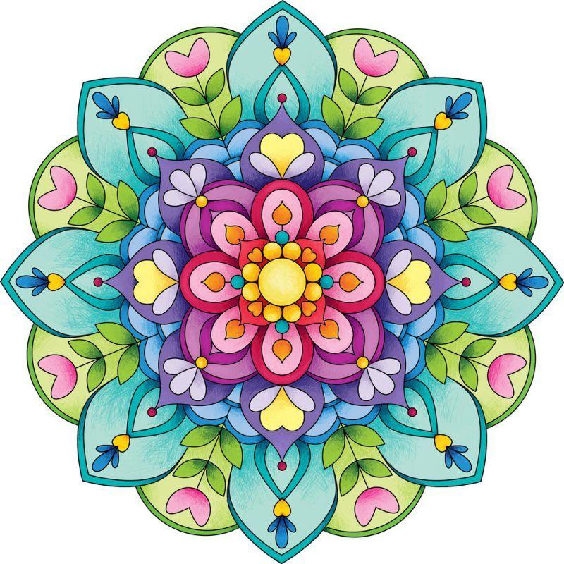 800x800 Con Mandalas De Colores Dibujos Mandala