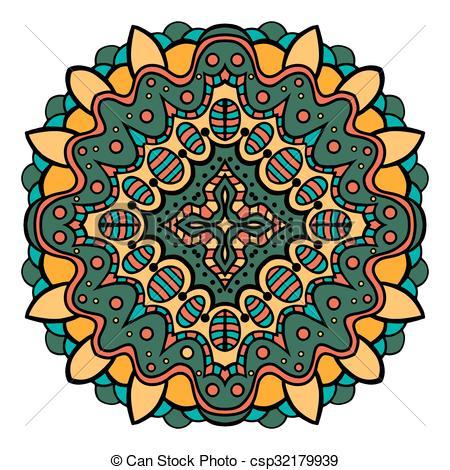 450x470 Mandala Square Ornament, Tribal Ethnic Pattern, Arabic Vectors