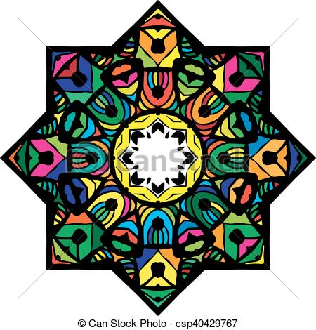 450x470 Multicolor Mandala From A Variety Of Bright Elements Arabic