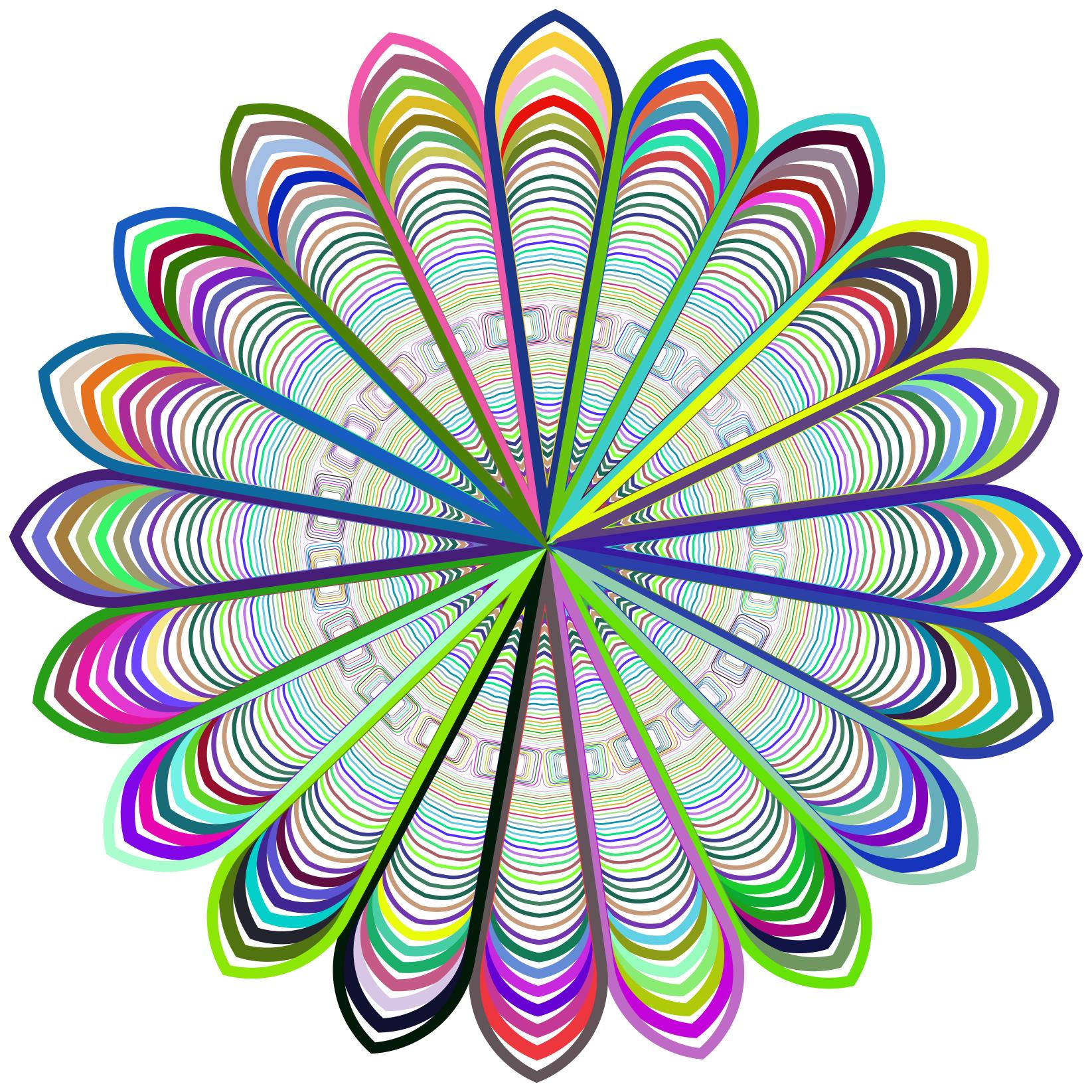 1645x1645 Prismatic Mandala Line Art Design 2 Clipart
