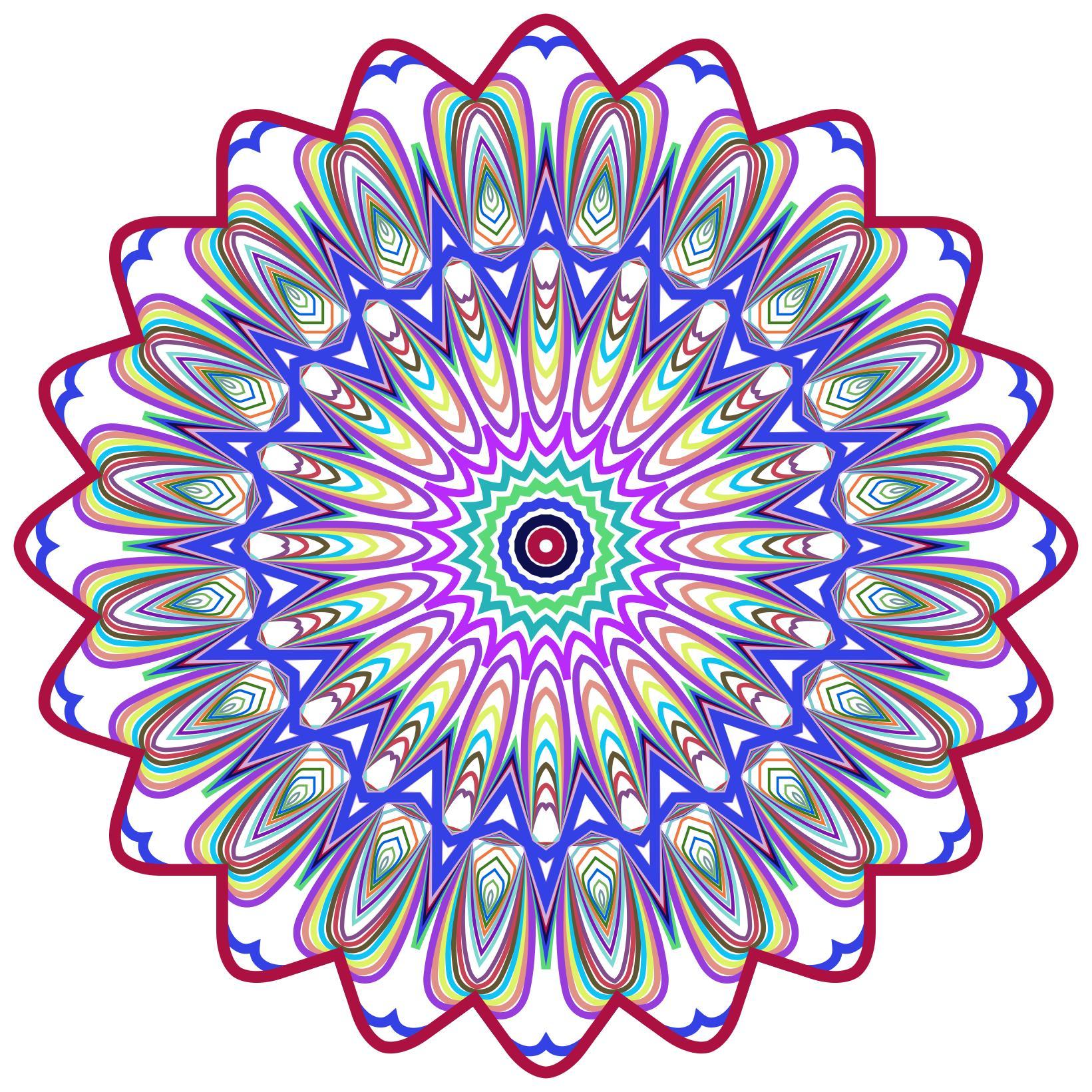 1641x1641 Prismatic Mandala Line Art Design 4 No Background Clipart