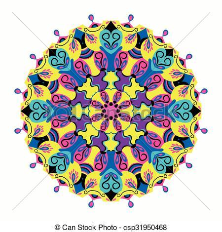 450x470 , Muster, Verzierung, Abbildung, Mandala., Vektor Clipart