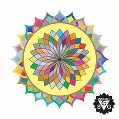 236x236 Sunset Mandala Clipart, Mandala Svg,mandala Iron On Transfer