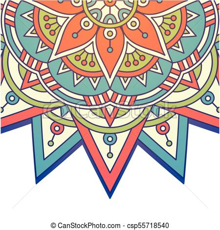 450x470 Vintage Mandala Rowel Design Vector Image Eps Vector