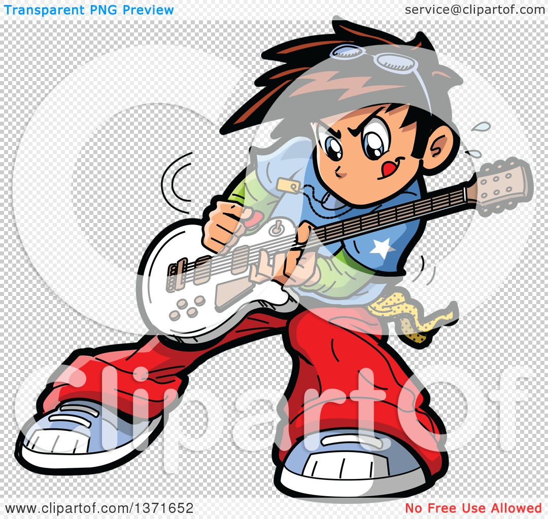 1080x1024 Clipart Of A Manga Boy Playing A Guitar