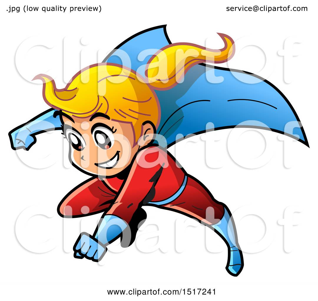 1080x1024 Clipart Of A Blond Manga Super Girl Flying