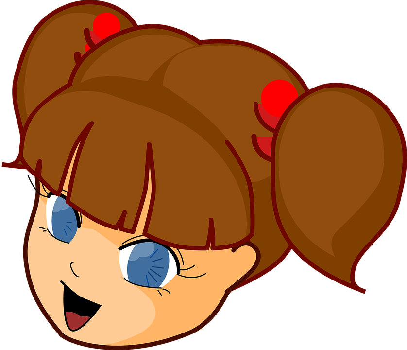 838x720 Cartoon Clipart Girl With Brown Hair And Blue Eyes