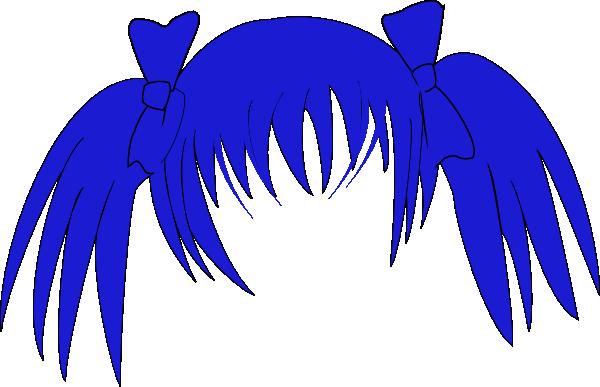 600x387 Manga Hair Clip Art Vector Clipart Panda