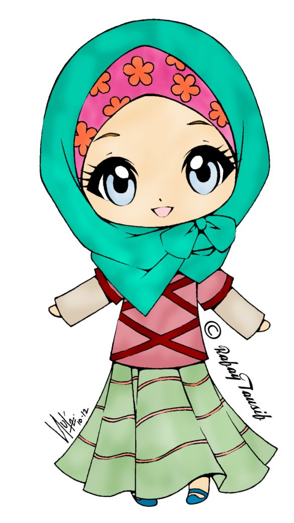 585x1039 170 best Anime Islami images on Pinterest Hijab cartoon, Islamic