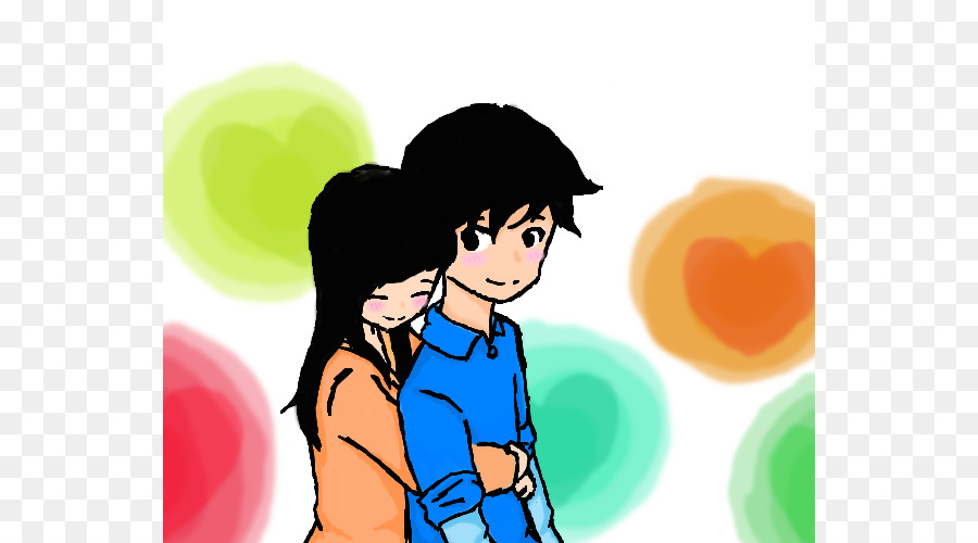 900x500 Hug Girl Boy Drawing Clip Art