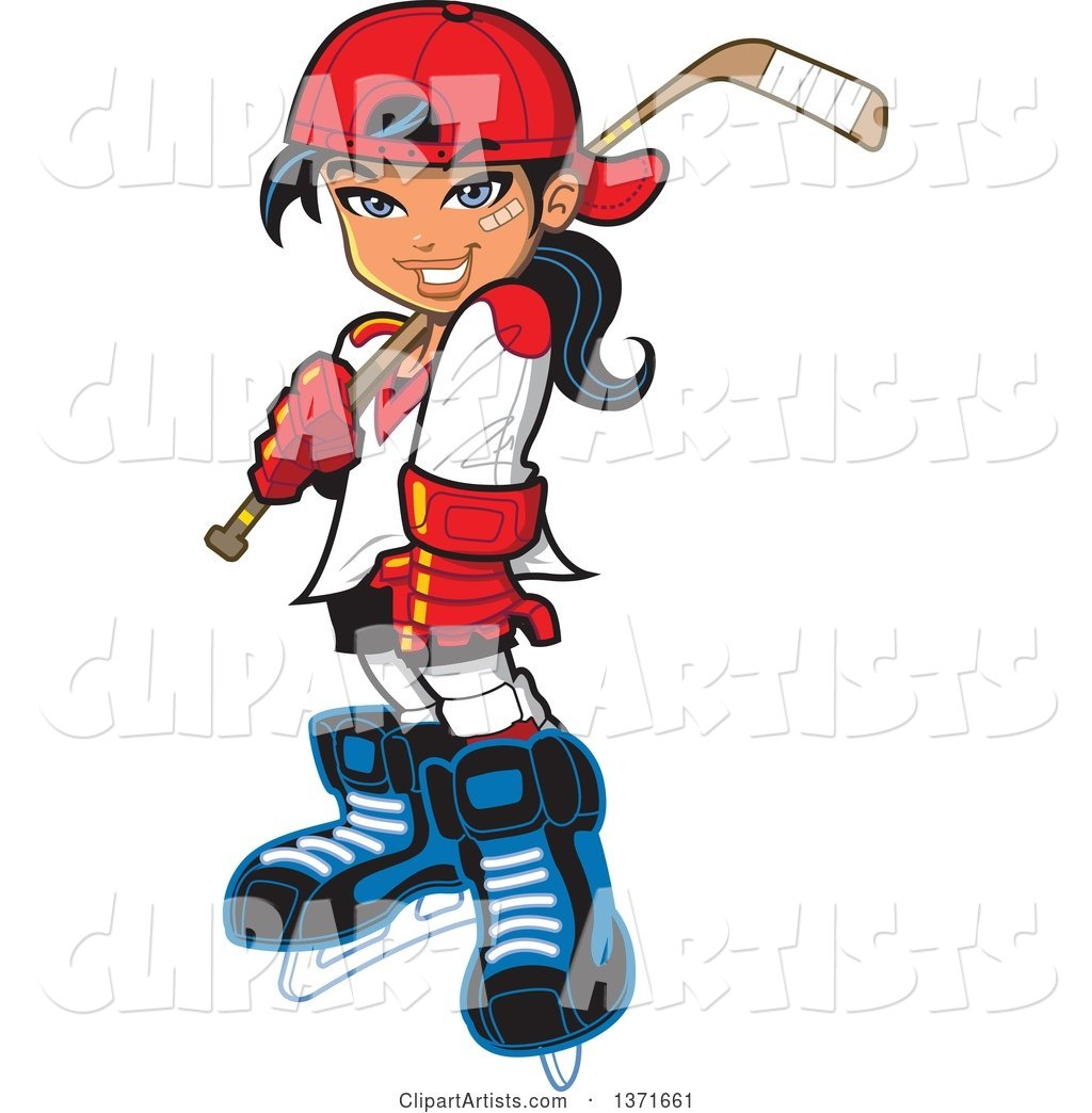 1024x1044 Manga Hockey Player Girl Clipart by Clip Art Mascots
