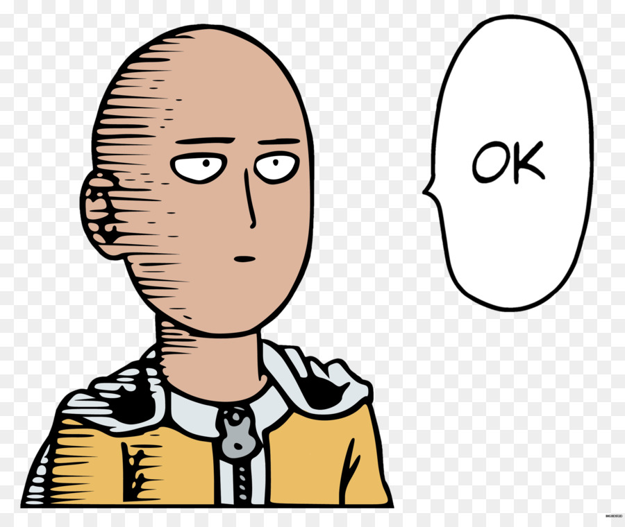 900x760 One Punch Man Saitama Manga Sticker Clip art