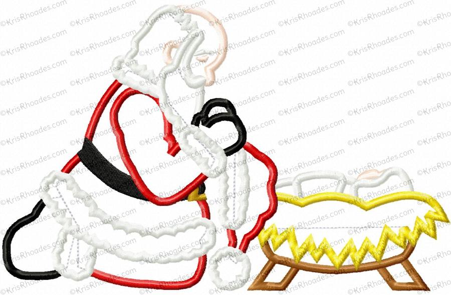 900x590 Santa Kneeling