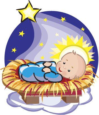 350x406 Baby Jesus Christmas Clipart