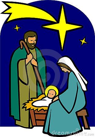 313x450 Clipart Christmas Holy Family Nativity Scene With Stock Vector