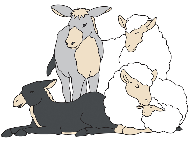 800x600 Clipart Manger Animals