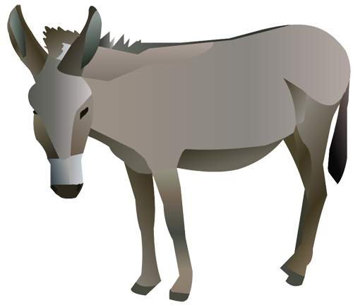 500x432 Collection Of Nativity Donkey Clipart High Quality, Free