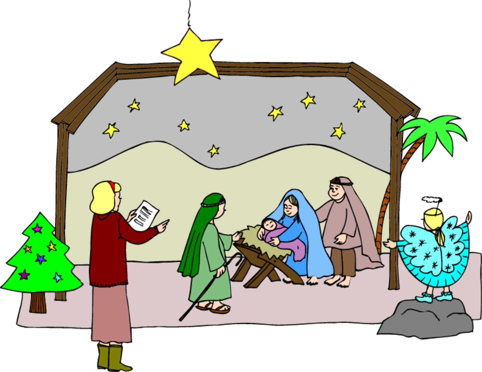1588x1225 Christmas Pageant Cliparts