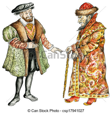 450x455 Kings Of Russia And France In16th Century Costumes Clip Art