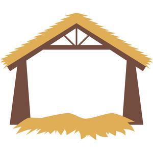 300x300 Nativity Stable Clipart