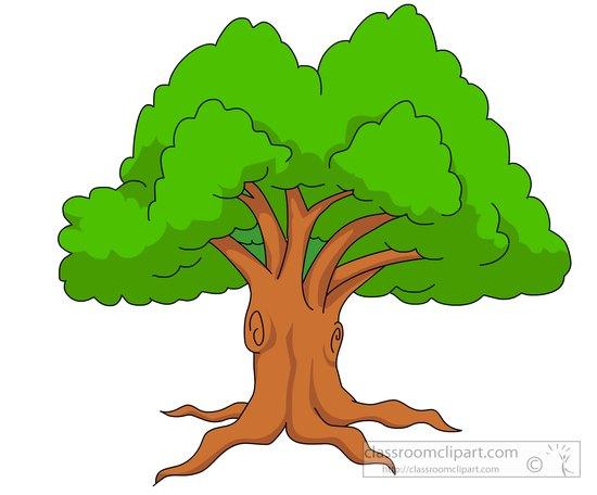 550x456 Summer Green Tree Clipart