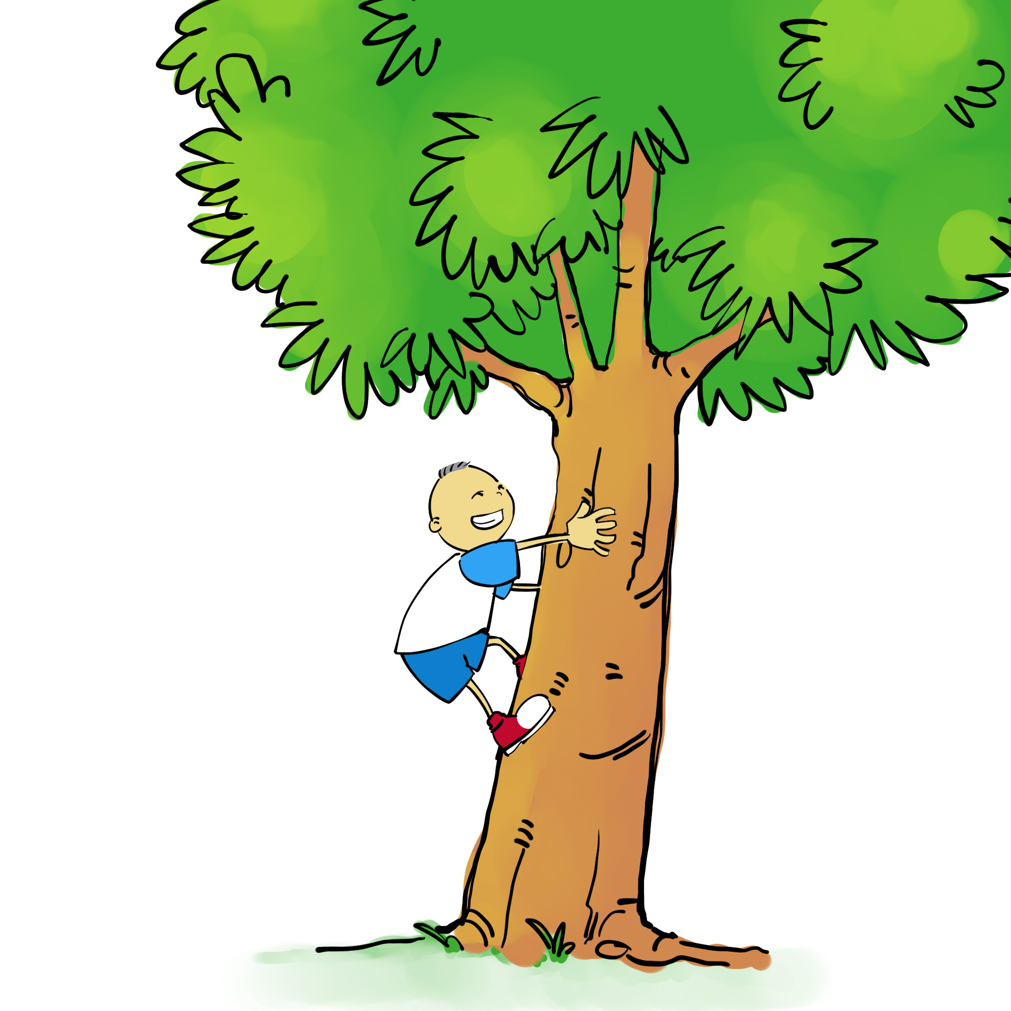 2000x2000 A Kid Climbing A Tree Clipart Amp A Kid Climbing A Tree Clip Art