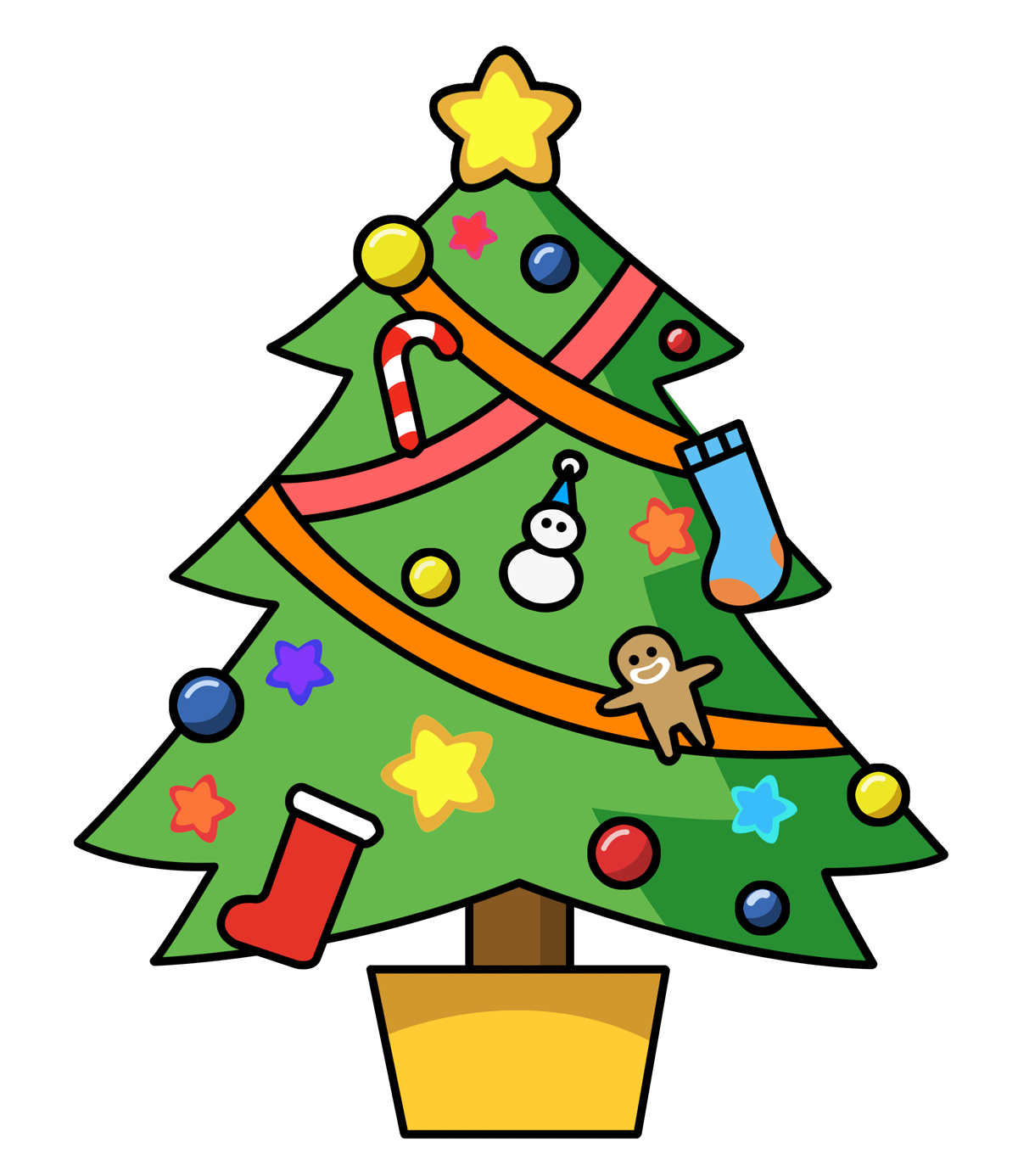 1200x1386 Xmas Tree Clipart