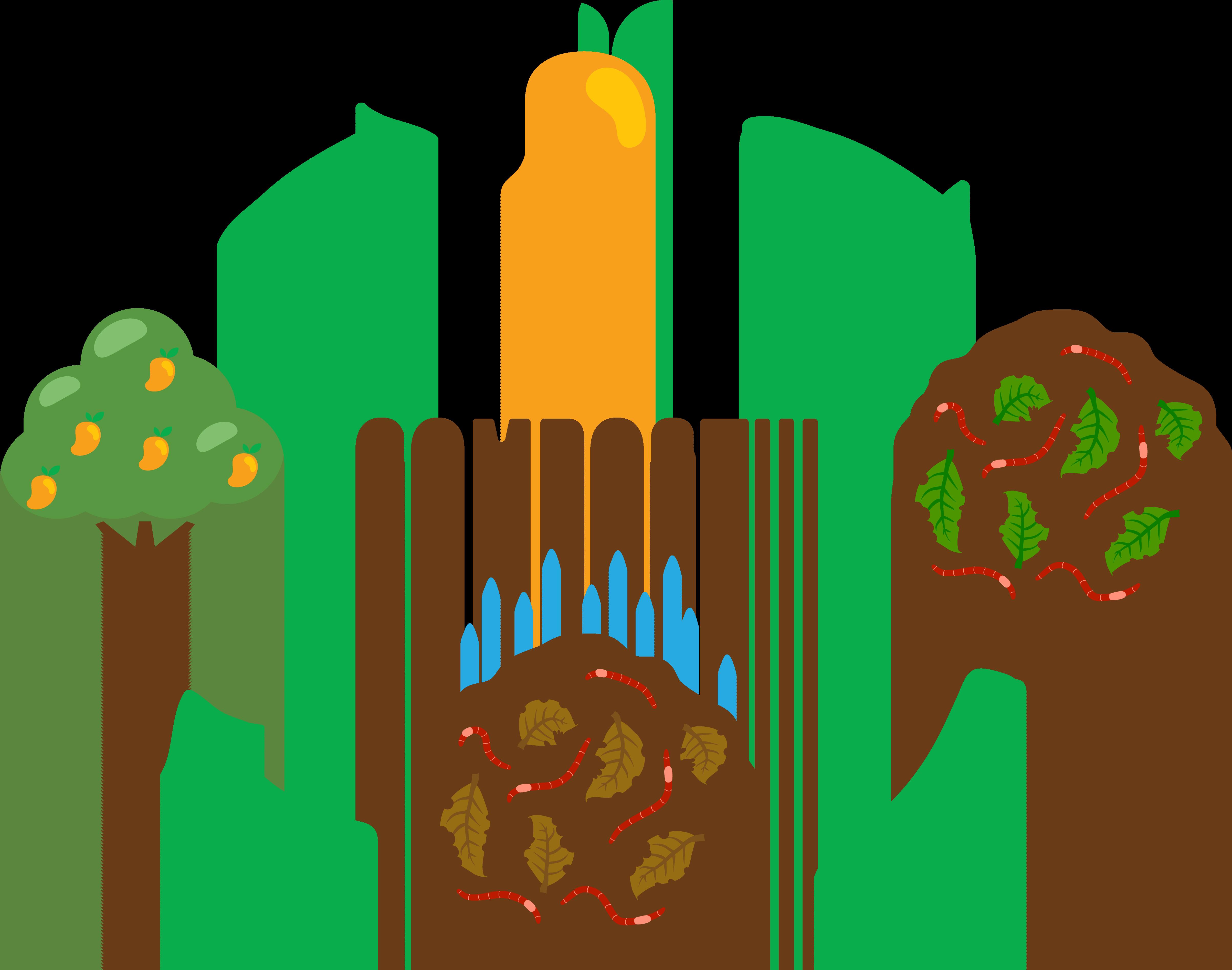 4811x3791 Compost Soil Clip Art